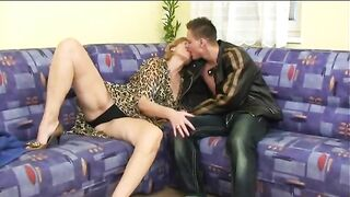Russian Milf makes it with younger guy
